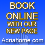Online Booking with www.Adriahome.com